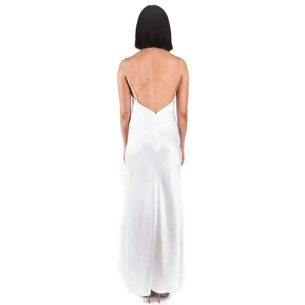 Bowery Slip Dress Cold White