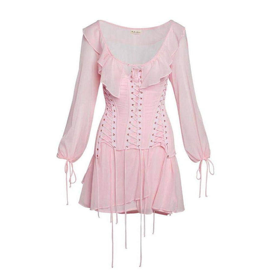 Lillie Chiffon Corset Dress