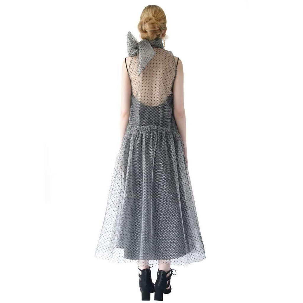 Lydia Bow Necktie Dress