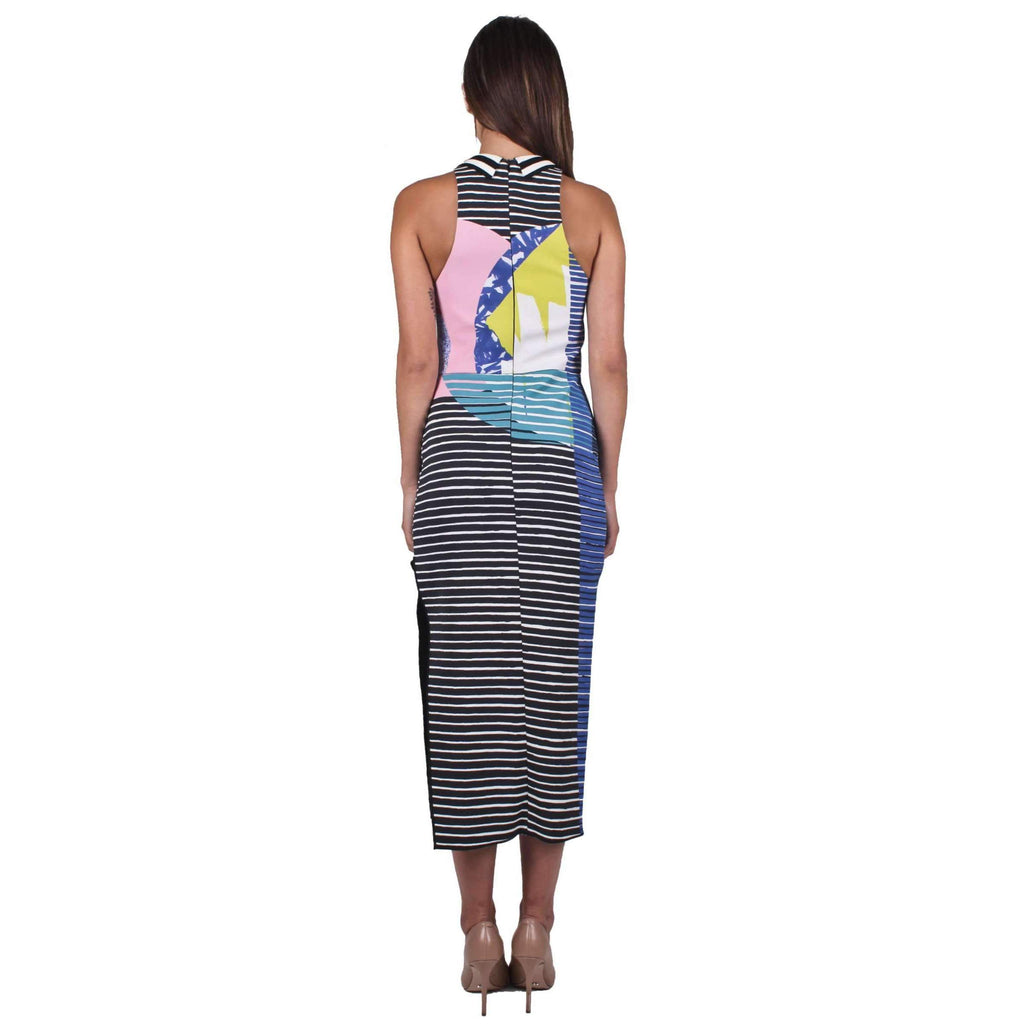 Polychrome Sheath Dress