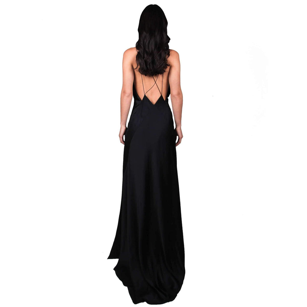 Alexandra Silk-Satin Maxi Dress