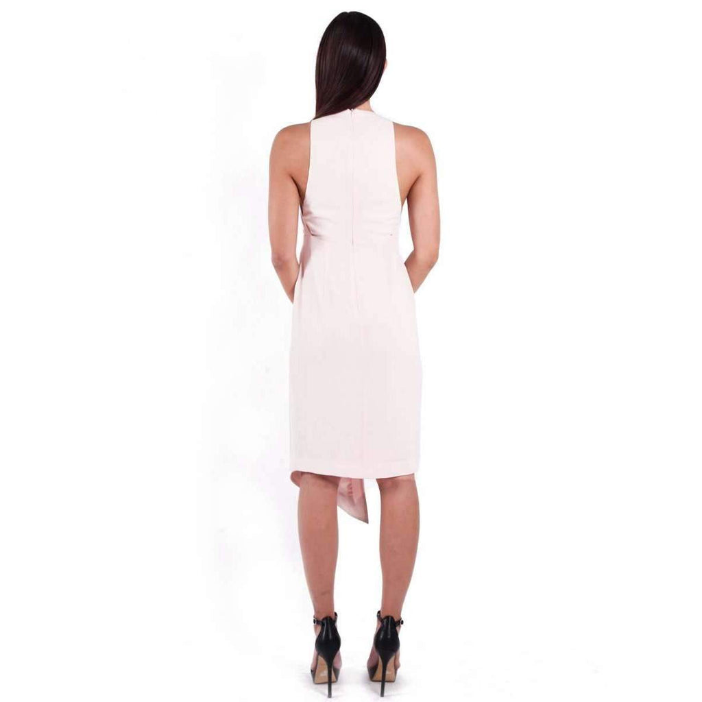 Deep V Gathered Dress