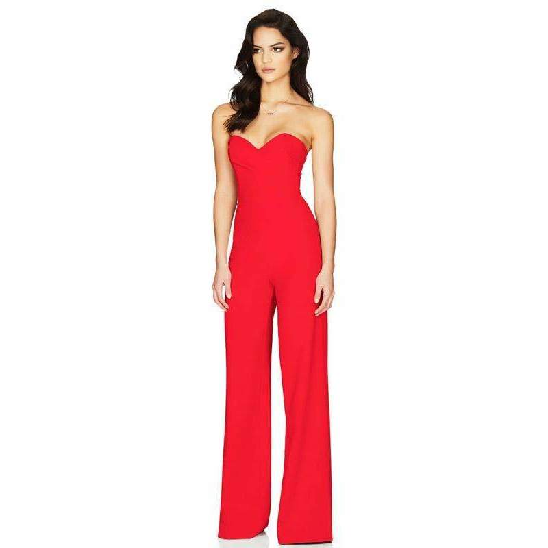 Bisous Jumpsuit Red