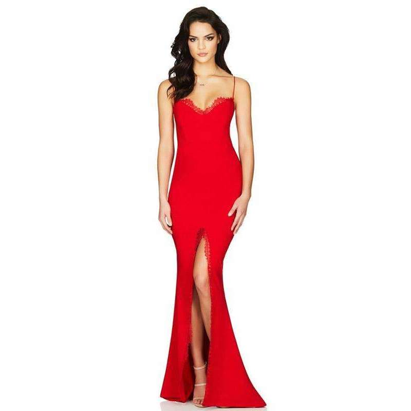 Chloe Lace Gown Red