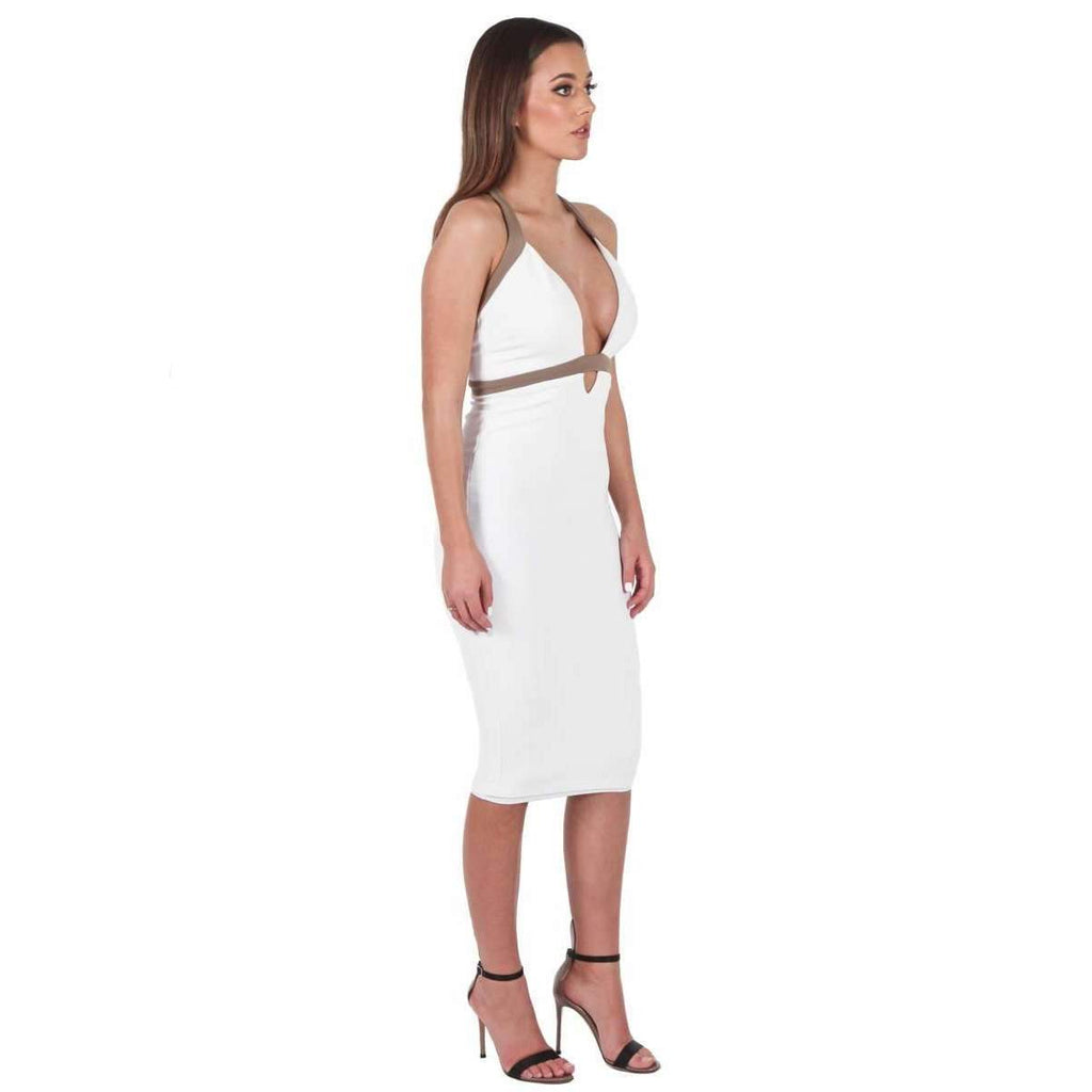 Eva Bodycon Dress White Mocha