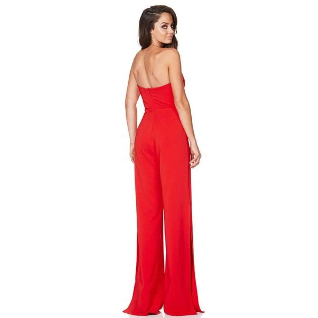 Glamour Jumpsuit Cherry Red