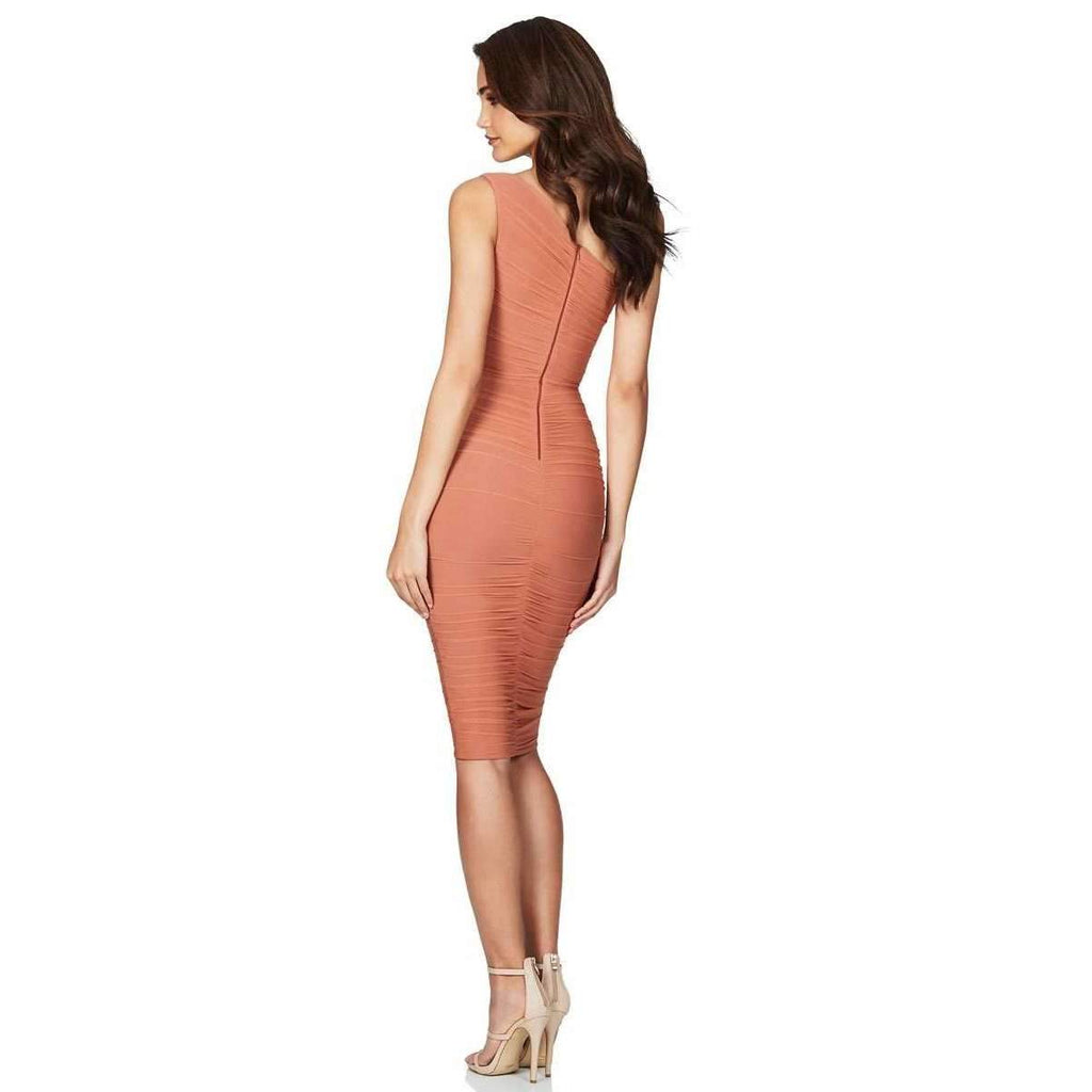 Inspire One Shoulder Midi Tan