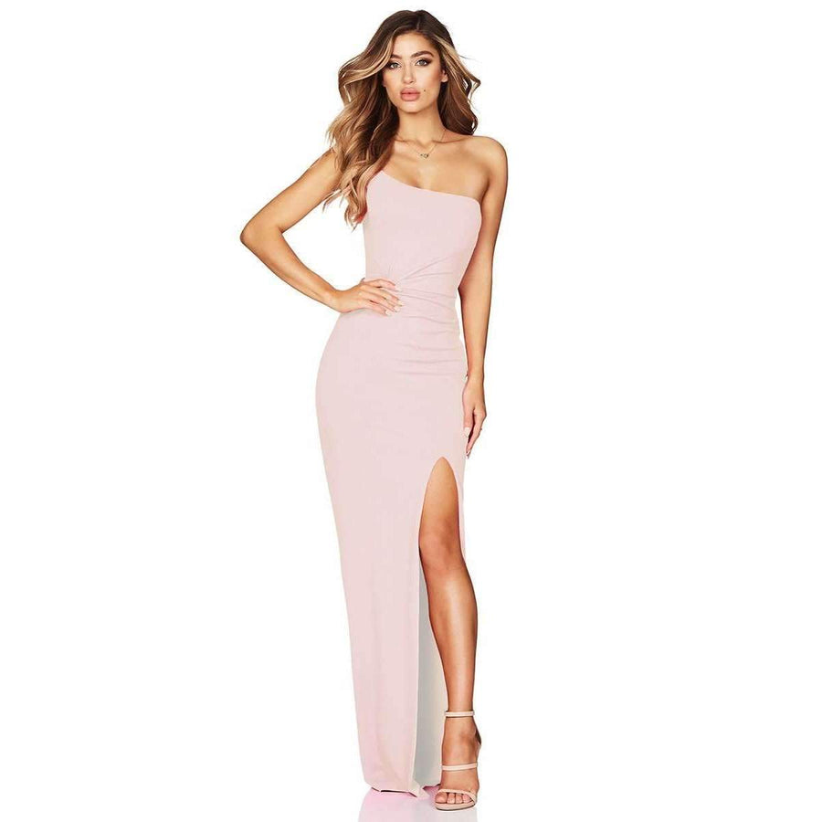 Lust One Shoulder Gown Blush