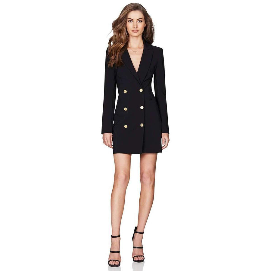 Milano Blazer Dress Black