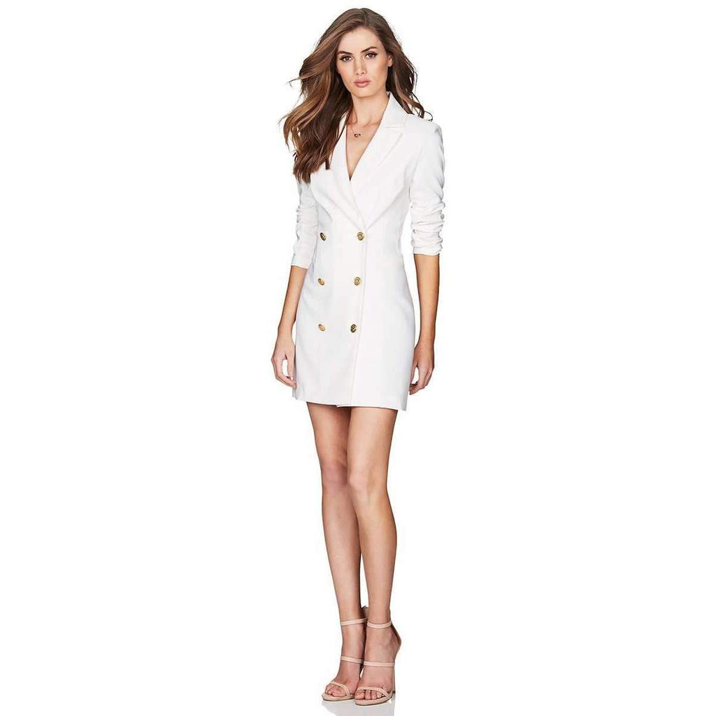 Milano Blazer Dress Ivory