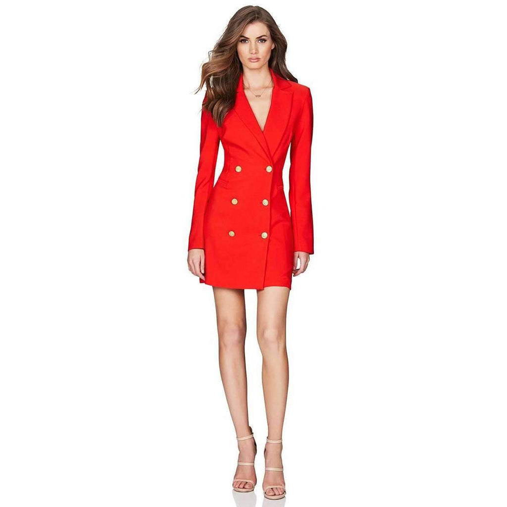 Milano Blazer Dress Orange/Red