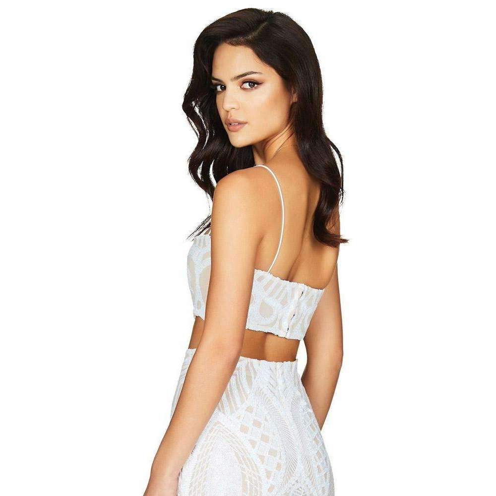 Mon Cherie Sequin Set White