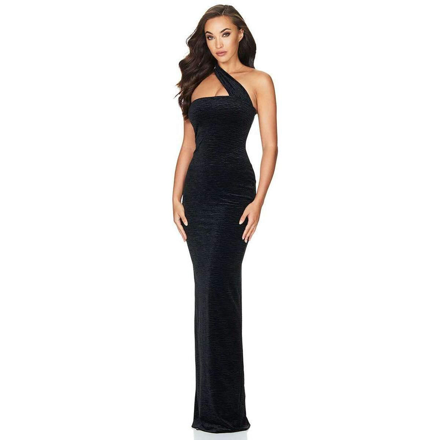 Secret Velvet Gown Black