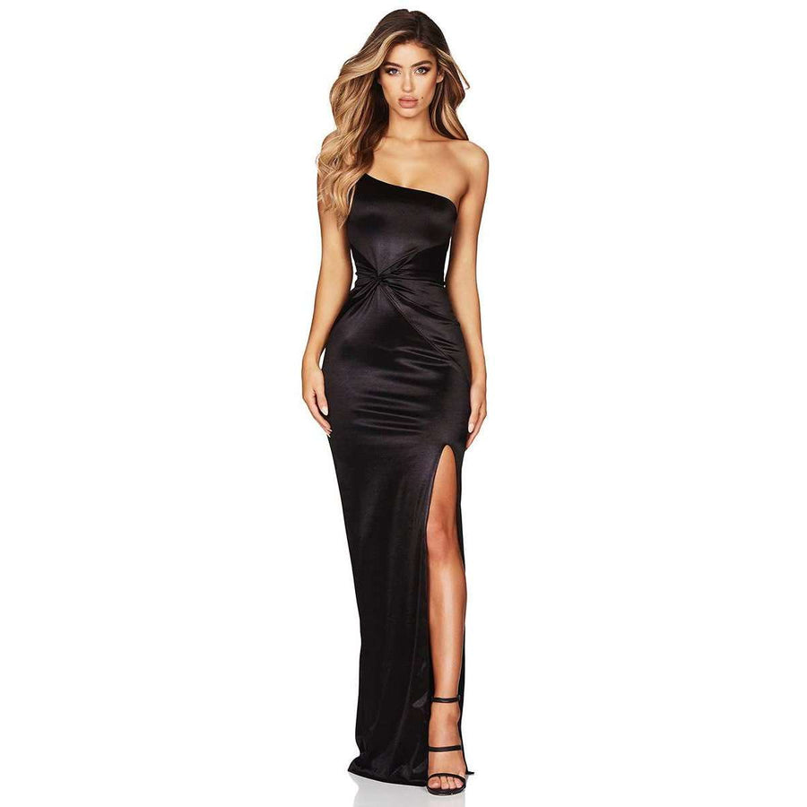 Tease Satin Gown Black