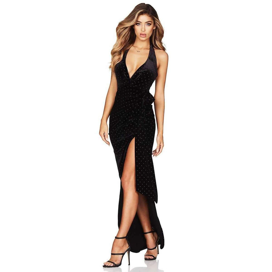 Vixen Velvet Gown Black Gold