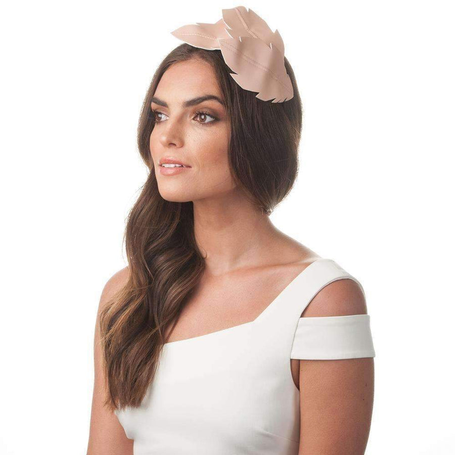 Lottie Leaf Headband Blush