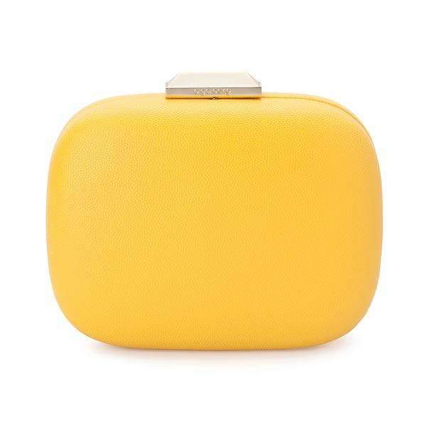 Mila Rounded Simple Clutch Yellow