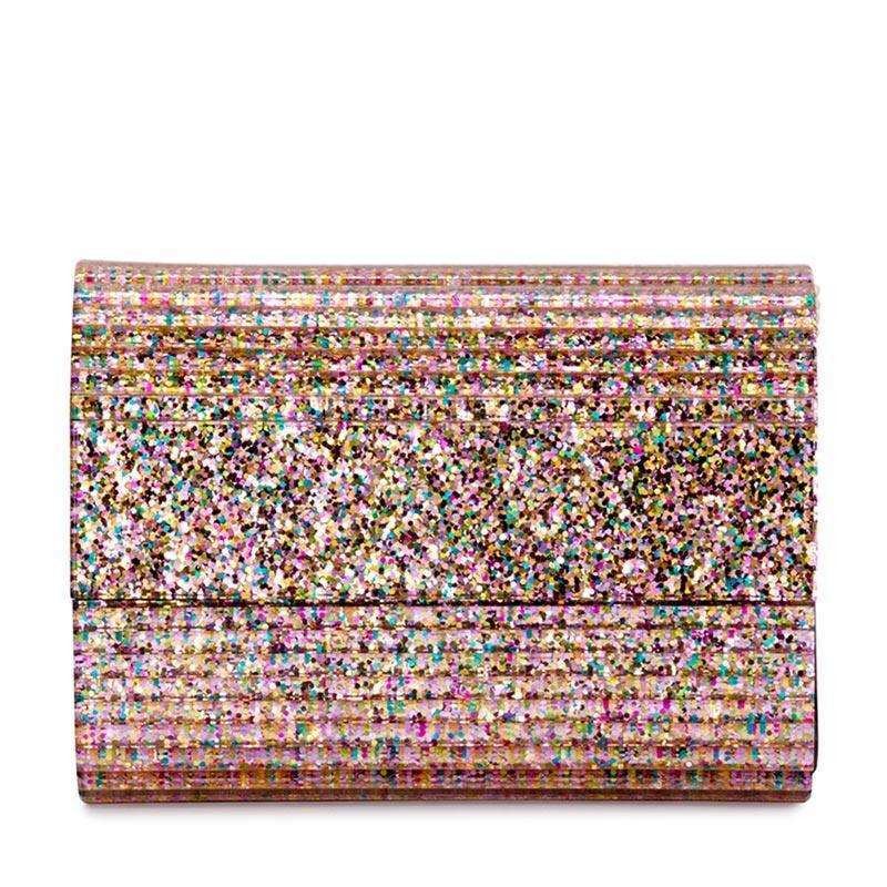 Stacer Acrylic Foldover Clutch Pink