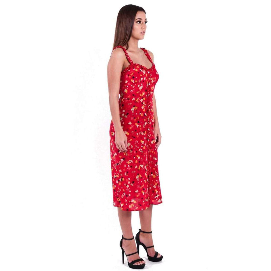 The Juliet Rouge Fleur Dress