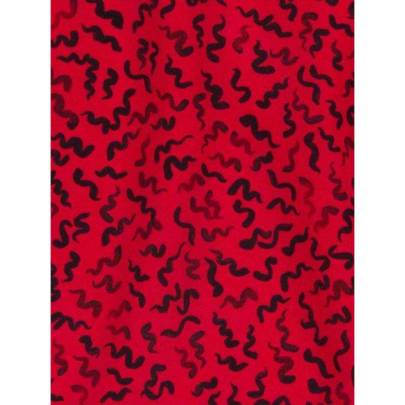 The Venus Red Squiggle Dress