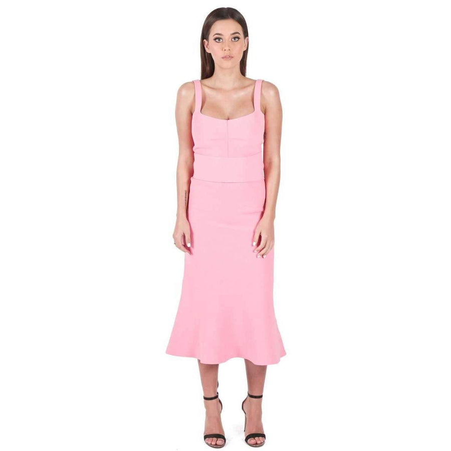 Crepe Knit Bralette Dress Pink