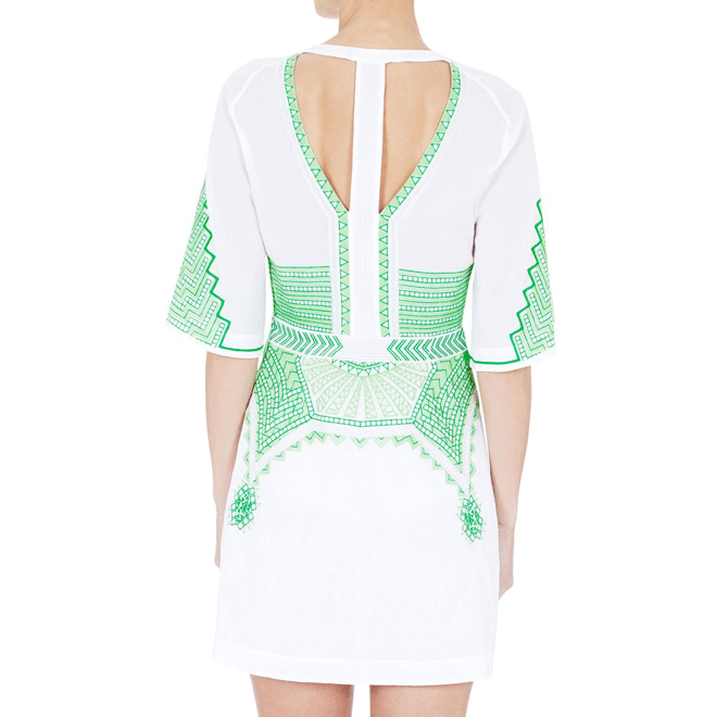 Shore Sheen Embroidered Dress