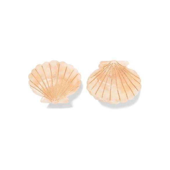 Ursula Shell Clip Pink - Set of Two