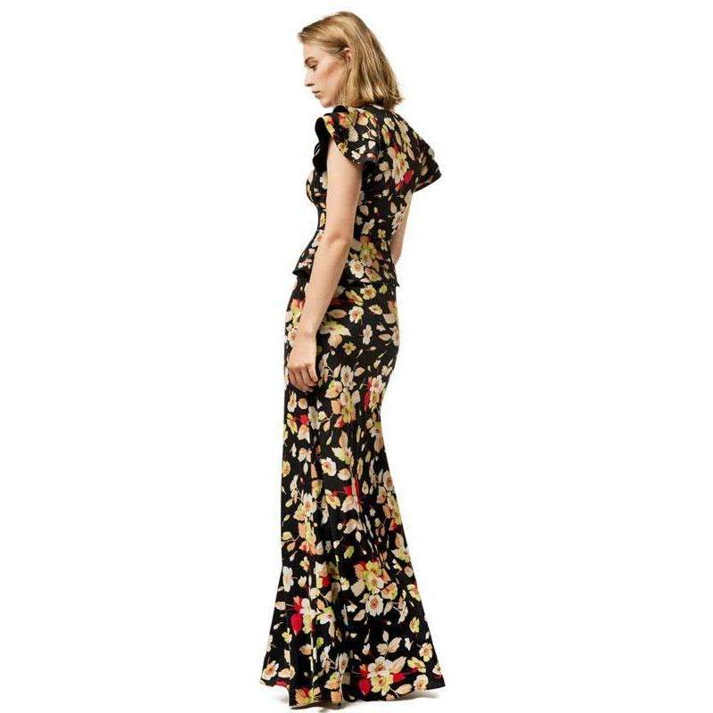 Butterfly Silk Floral Jasmine Dress