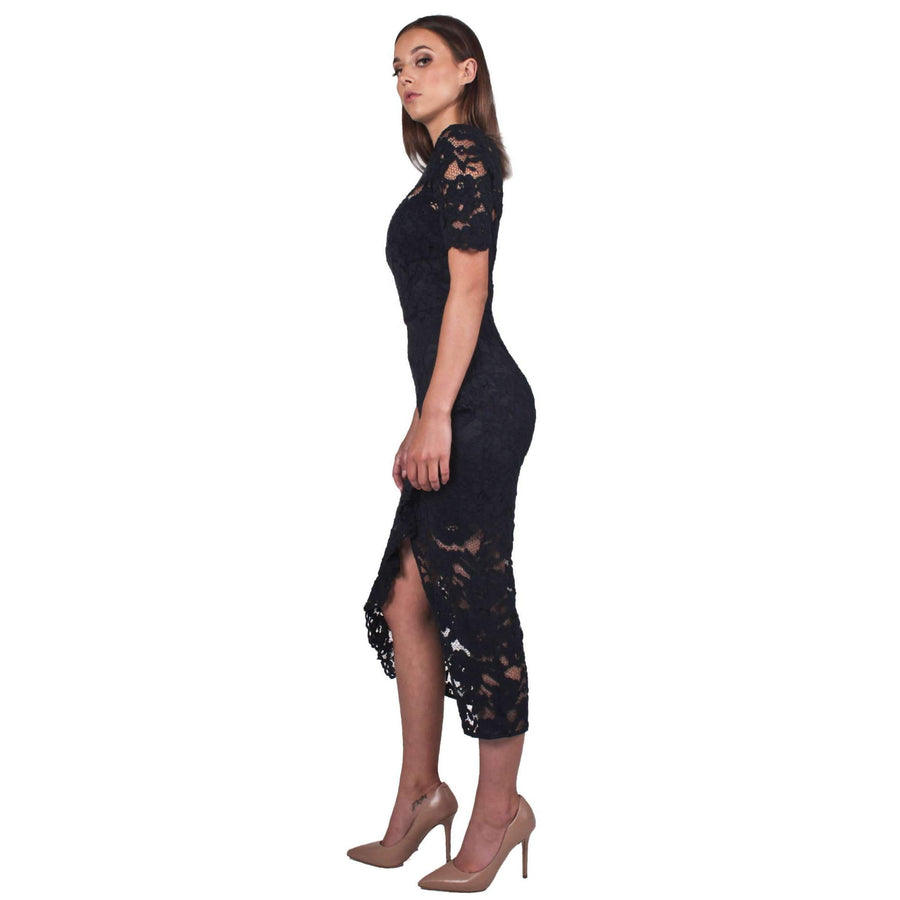 Cornelli Lace Alyssa Dress Navy