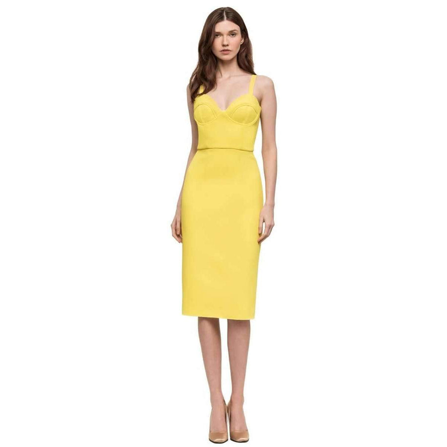 Double Crepe Harper Dress Yellow