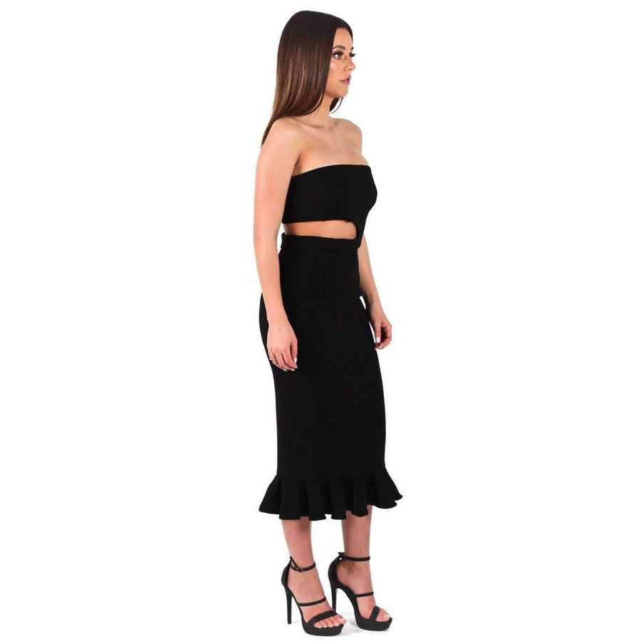 Double Crepe Kaitlin Dress Black