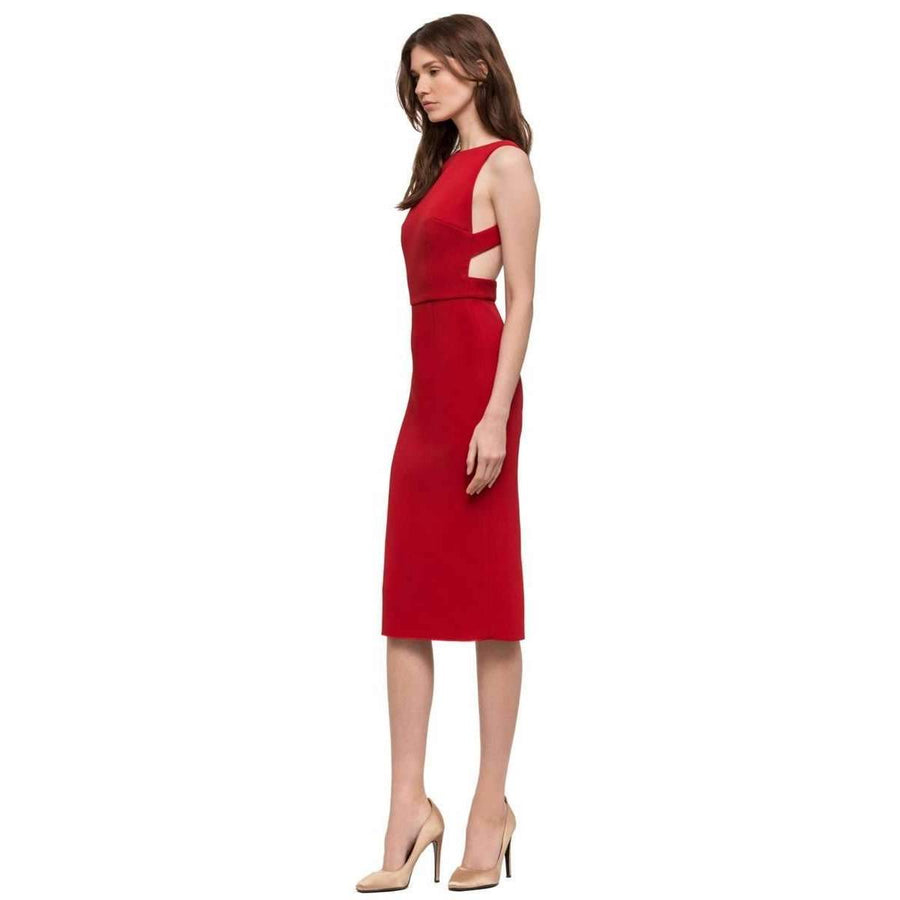Double Crepe Sophie Dress Red