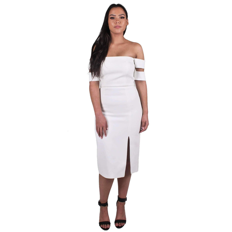 Double Crepe Split Dasha Dress