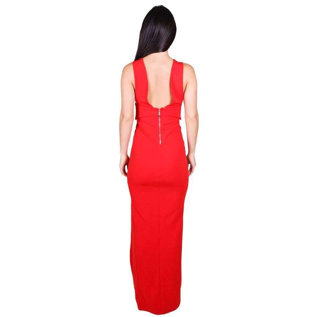 Pia Gown Cherry Red