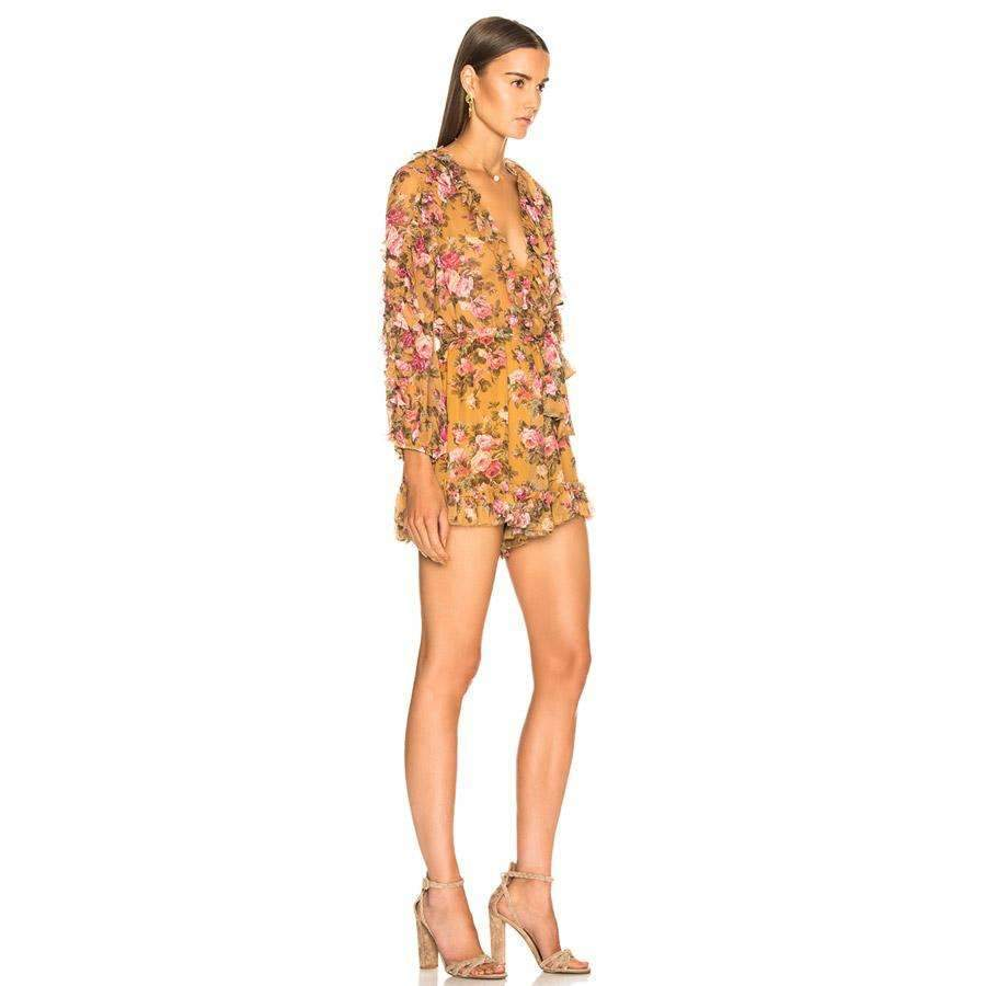Golden Ruffle Playsuit