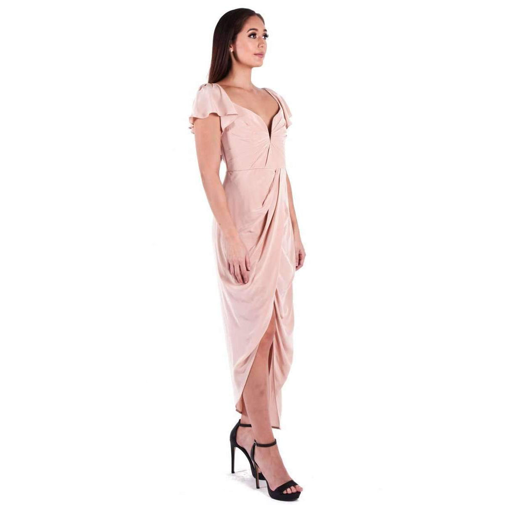 Silk Flutter Long Dress Lily