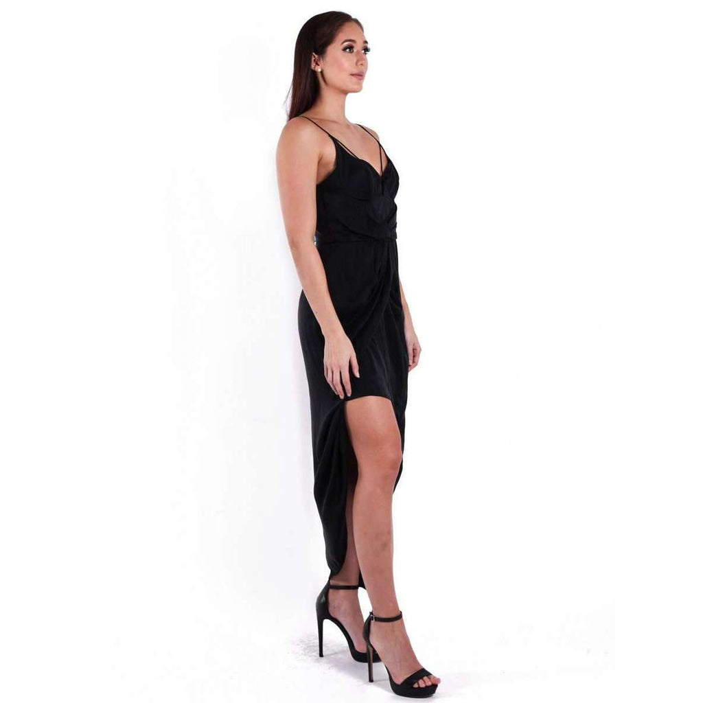 Sueded Balconette Long Dress