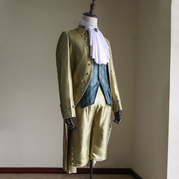 Adult Mens Victorian Elegant Gothic Aristocrat 18th Century Gentleman Cosplay Costume Custom Made