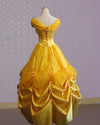 Belle Evening Gown Yellow Dress Cosplay Costume