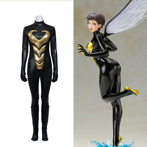 Hzym Ant-Man Wasp Janet Van Dyne Cosplay Costume Women Jumpsuit