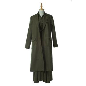 The Handmaid's Tale Costume Aunt Lydia Cosplay Dress Green Full Set Custom Made