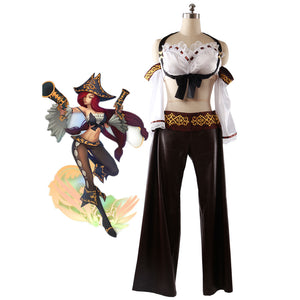 Game LOL Miss Fortune the Bounty Hunter Cosplay Costume Custom Made