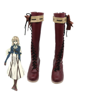 Violet Evergarden Cosplay Shoes Anime Women Boots