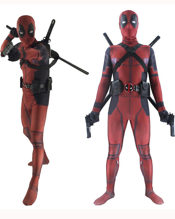Deadpool Cosplay Costume Bodysuits Suit For Adults and Kids Spandex Zentai 3D Style
