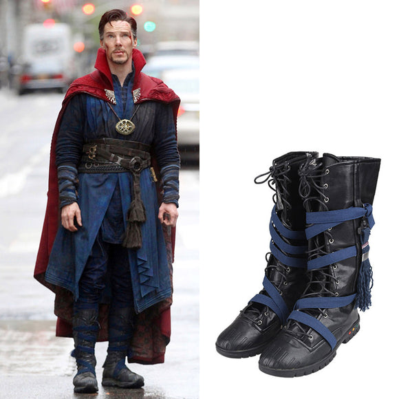 Doctor Strange Cosplay Boots Hot Movie Dr Cosplay Shoes Men Boots