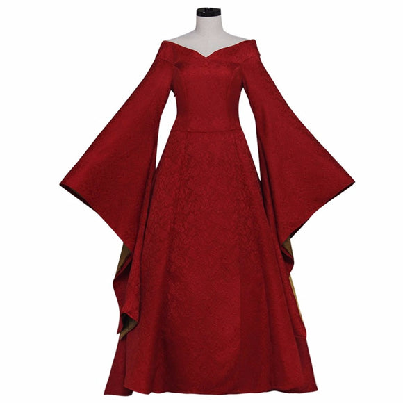 Game of Thrones Cersei Lannister Cosplay Costume Medieval Renaissance Ball Gown Dress