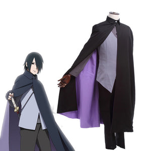 Boruto Naruto The Movie Uchiha Sasuke Cosplay Costume Japanese Anime Uniform