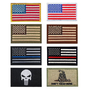 8 Pcs Tactical Molle USA Flag Patch Morale Patches for Backpack & Hat