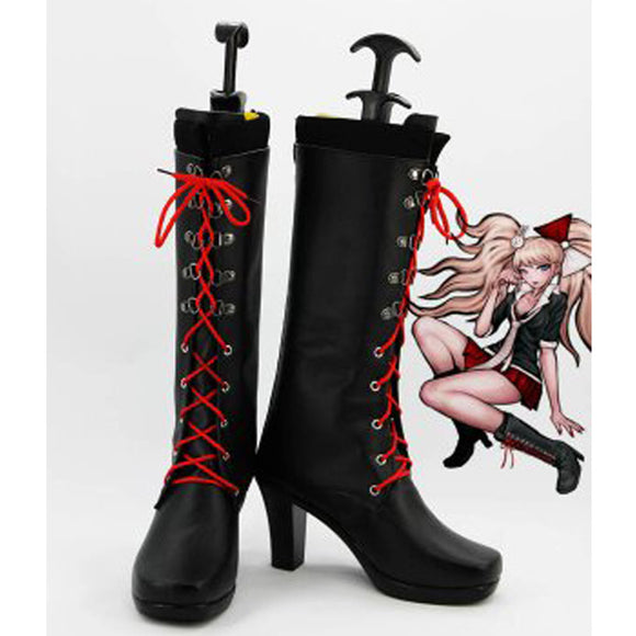 Dangan Ronpa Junko Enoshima High Heel Cosplay Shoes Women Boots