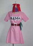 Anime Dragon Ball Z Bulma Cosplay Costume Anime Dress